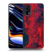 Átlátszó szilikon tok az alábbi mobiltelefonokra Realme 7 Pro - Organic red