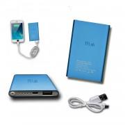 Batterie Usb Externe De Secours 8000mah Avec Led (Câble Inclus) Power Bank Bleu Output Intelligent Quick Charge Pour Htc Wildfire By Ph26®