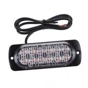 Tradico® 12 LED Amber Car Truck Emergency Warning Flash Strobe Light Bar -2 Lighting Mode