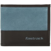 Fastrack Men Casual Black, Blue Genuine Leather Wallet(2 Card Slots)