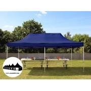 3x6m összecsukható pavilon kék Professional (Harmonika sátor)