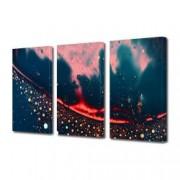 Tablou Canvas Premium Abstract Multicolor Fantezie Rosu-Negru Decoratiuni Moderne pentru Casa 3 x 70 x 100 cm