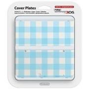 Carcasa Nintendo Official Cover Plate for New 3DS Light Blue Check Nintendo 3DS
