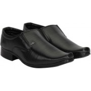 Shoe Island Premium Class Black Formal Shoes Slip On For Men(Black)