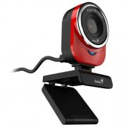 Webkamera, beépített mikrofonnal, USB, GENIUS QCam 6000, piros (GEWQ600R)