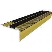 Profil aluminiu pentru trepte cu antiderapant 900 mm auriu
