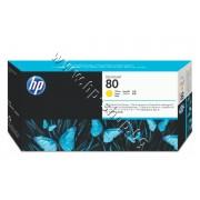 Глава HP 80, Yellow, p/n C4823A - Оригинален HP консуматив - печатаща глава