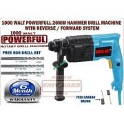 1000 WALT 20MM HAMMER POWERFUL DRILL MACHINE SIMILAR TO BOSCH GBH 2-20 MACHINE