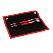 Darčeková sada pera a ceruzky v puzdre červená