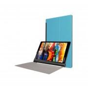 Custer Textura Horizontal Flip Color Solido Estuche De Ecocuero Plegable Con Tres Titular Para Lenovo Yoga Tab 3 Pro X90l, 10,1 Pulgadas (azul)