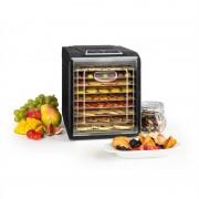 Klarstein FRUIT JERKY PLUS 9, uscător de fructe, timer, 9 rafturi, tablă, 600-700 W, culoare neagră (GQ7-FruitJerky Plus9)