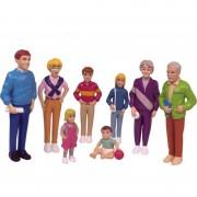Set de 8 figurine Familie de europeni Miniland