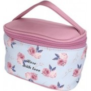 House of Quirk Waterproof Cosmetic Bag Travel Toiletry Pouch Makeup with Zipper - Floral Cosmetic Bag(Multicolor)