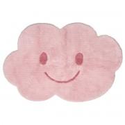 Alfombra infantil en algodón rosa 75x115 cm NIMBUS - Miliboo