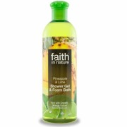 Gel de dus si spuma de baie cu ananas si lime, Faith in Nature, 400 ml