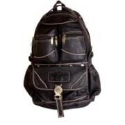 Viaan Unisex 16 inch Black laptop backpack/school bag/college bag Waterproof Backpack(Black, 13 L)