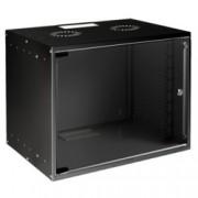 Комуникационен шкаф MIRSAN SOHO, 535 x 400 x 350 мм, D=400 мм / 7U, черен, за стена