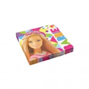 Set 20 servetele Barbie Sparkle 33 cm