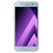 "Telefon Mobil Samsung Galaxy A3 (2017), Procesor Octa-Core 1.6GHz, Super AMOLED capacitive touchscreen 4.7"", 2GB RAM, 16GB Flash, 13MP, 4G, Wi-Fi, Android (Blue) + Cartela SIM Orange PrePay, 6 euro credit, 4 GB internet 4G, 2,000 minute nationale si inter"