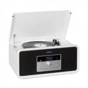 Auna Bella Ann, стерео система, грамофон, радио, DAB + / FM, USB, bluetooth, бял (RM1_Bella Ann WH)