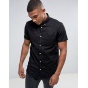 Jack & Jones Узкая рубашка с добавлением льна и короткими рукавами Jack & Jones Ori