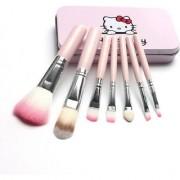 BELLA HARARO Hello Kitty Complete Makeup Mini Brush Kit with A Storage Box - Set of 7 Pieces