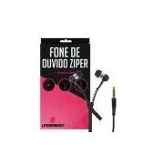 Fone De Ouvido Ziper Preto Para Sony Xperia Z3 Compact - Underbody