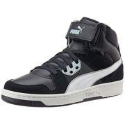 Puma Unisex Puma Rebound Street SD Black, White and Quarry Sneakers - 9 UK