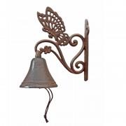 Cloche Papillon fonte 18x10x22 cm