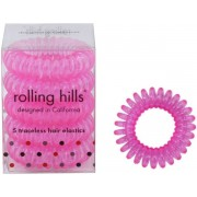 Rolling Hills Professional Hair Rings Transparent Candy Haargummi