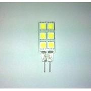 Bec cu LEDuri tip BULB 12 SMD LED G4 2W Lumina Alba Rece