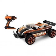 Shybuy High Speed 30mph 4x4 Fast Race Cars1:24 RC Scale RTR Racing 4wd Electric Power Buggy W/2.4g Radio Remote Control Off Road Cross Country Vehicle (Orange)