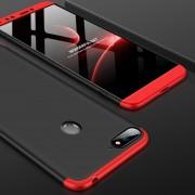 GKK Empalme Tres Etapa Plena Cobertura PC Case Para Huawei Honor 7a / Y6 (2018) (negro + Rojo)