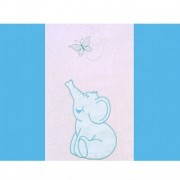 Lenjerie patut cu broderie Hubners Elefant 4 piese albastru