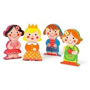 Janod Dolls Chunky Wooden Funny Magnets
