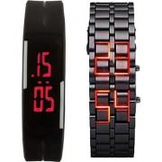fast selling LED-band-chain-combo Digital Watch - For Boys Men Girls Women