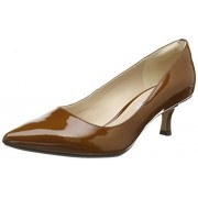 Clarks Women's Aquifer Soda Cognac Leather Pumps - 7 UK