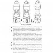 BPA Free Sport Smart Recordatorio Neblina Una Botella De Agua De La Pulverizadora Con Luz LED SOS