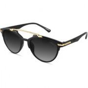 Laurels Hawk Eye UV Protected Trendy Sunglasses - Black Lens - Ls-HKE-020602