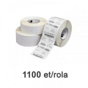 Címketekercs Zebra Z-Select 2000D 102x64mm, 1100 db/tekercs