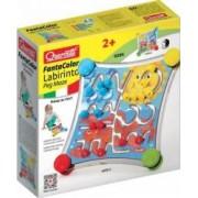 Jucarie copii labirint cu piese de asociat Quercetti cu 2 fete diferite si 12 trasee de parcurs
