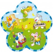 Puzzle animale cu instrumente Baby Mix