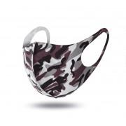 Andningsskydd / Ansiktsmask I Tyg Camouflage Tvättbart (Färg: Brun Camouflage)
