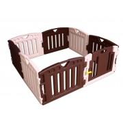 Plastová detská ohrádka, do štvorca, obdĺžnika, osemstenu, s dverami (8 PLAY)