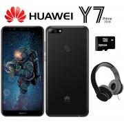 Celular Huawei Y7 Prime 32GB 3GB Dual Sim + MicroSD y Diadema - Negro