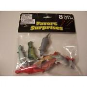 Dinosaur Figures ~ Set of 8 Soft and Flexible Dinosaurs