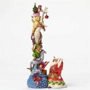 """""""Wish Big"""" Santa's Stacked Magic Toybag Jim Shore"""