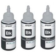 Original Epson Black Ink Pack of Three T6641