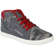 World WEAR Mens Grey Lace-up Sneakers
