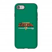 Nintendo Funda Móvil Nintendo The Legend of Zelda Logo Retro - iPhone 7 - Carcasa doble capa - Brillante